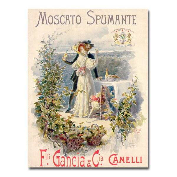 Cesare Saccaggi 'Moscato Spumante' Canvas Art