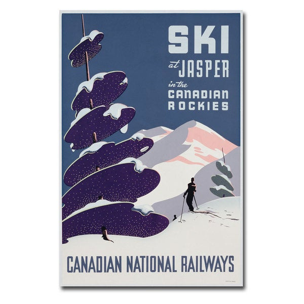 Unknown 'Canadian Ski Resort Jasper' Canvas Art