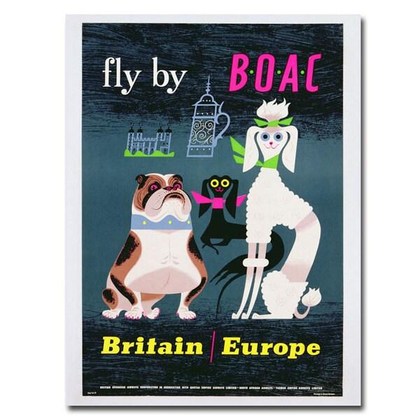 Unknown 'British Overseas Airways' Canvas Art