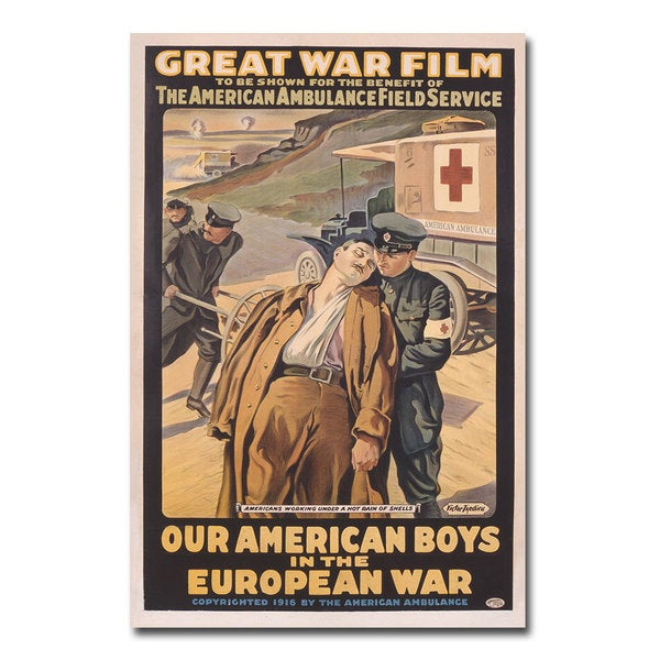 Victor Tardieu 'Our American Boys in the European War' Canvas Art