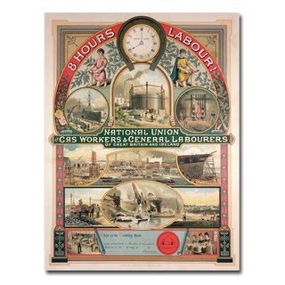 Unknown 'National Union Gas and General Labourers' Canvas Art
