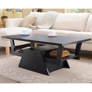 Furniture of America Contemporary Black Teeter-Totter Coffee Table