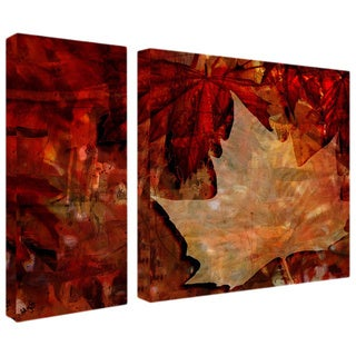 Alexis Bueno 'Abstract Autumn' 2-piece Canvas Wall Art