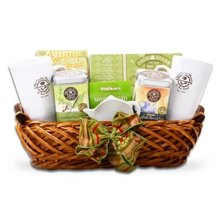 Alder Creek Coffee Bean and Tea Leaf Bright Tea Morning Gift Basket