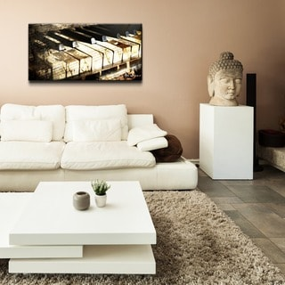 Alexis Bueno 'Ivory Keys' Oversized Canvas Wall Art