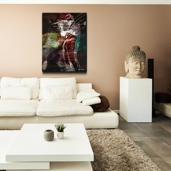 Alexis Bueno 'A few last notes' Oversized Canvas Wall Art