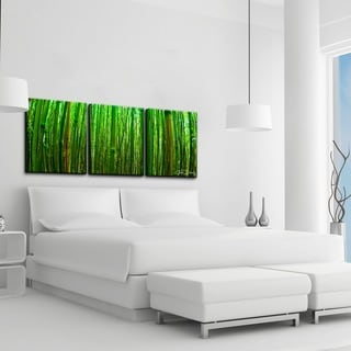 Chris Doherty 'Maui Palms' 3-piece Canvas Wall Art