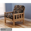 Aspen Lodge Natural Futon Chair and Mattress Set