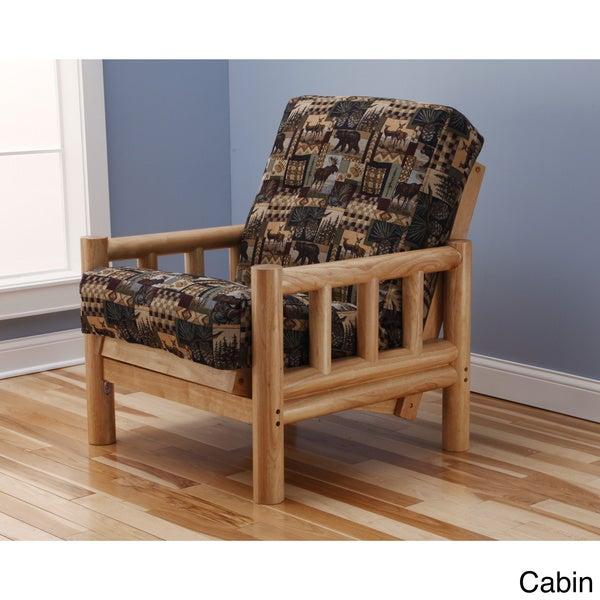 Somette Aspen Lodge Natural Futon Chair and Mattress Set - 15811331 ...
