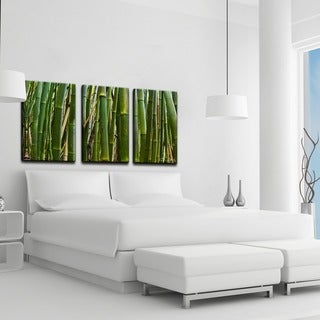Chris Doherty 'Maui Palms II' 3-piece Canvas Wall Art