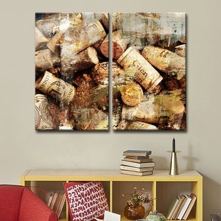 Alexis Bueno 'Never Enough Corks' 2-piece Oversized Canvas Wall Art