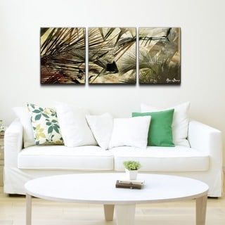 Alexis Bueno 'Abstract Palms' 3-piece Canvas Wall Art