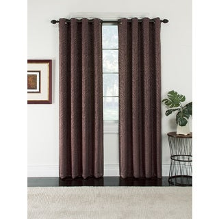 Serengeti Patterned Blackout Grommet Jacquard Curtain Panel Pair