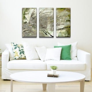 Alexis Bueno 'Abstract Palms' Canvas Wall Art (Set of 3)