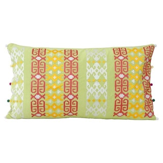 Ethnic Embroidered Lumbar Pillow (India)