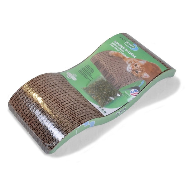 Van Ness Pureness Scratch-n-Relax Cat Scratcher with Organic Catnip