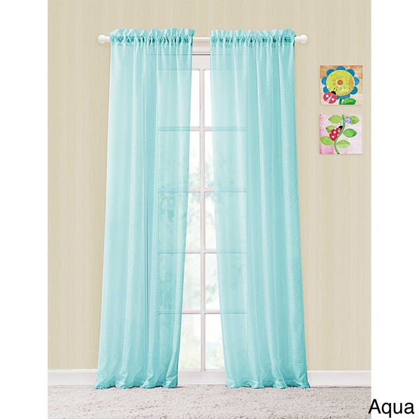 Victoria Classics Colette Window Panel Rod Pocket Sheer Curtains