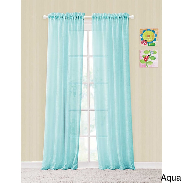 Vcny colette rod pocket sheer curtain panel pair 15811435