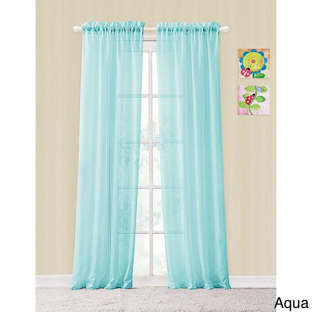 Overstock.com Colette Window Panel Rod Pocket Sheer Curtains at Sears.com