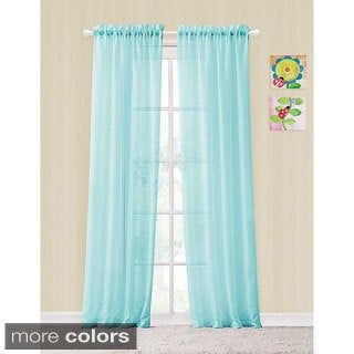 Colette Window Panel Rod Pocket Sheer Curtains