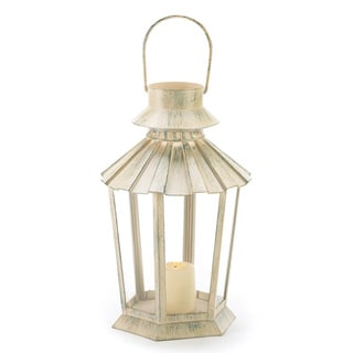 Weathered Ivory Graceful Garden Lantern