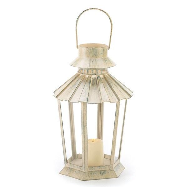 Weathered Ivory Graceful Garden Lantern