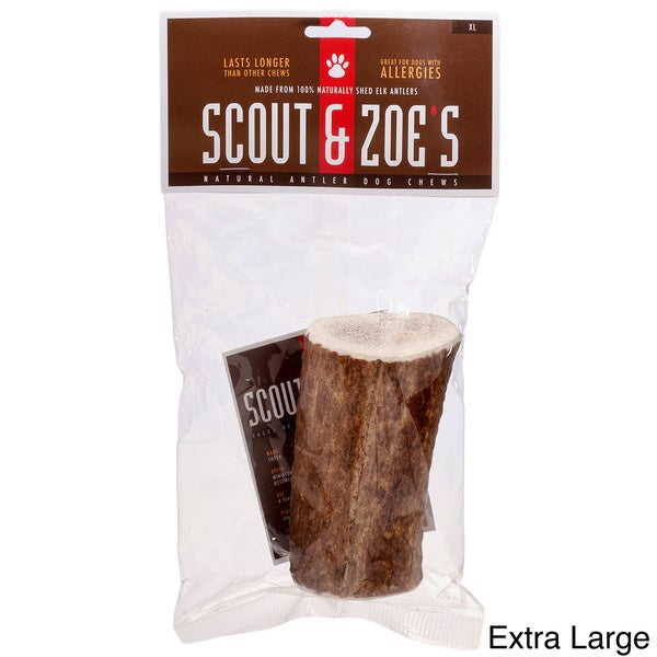 Scout & Zoe's 100-percent USA Elk Antler Dog Chew