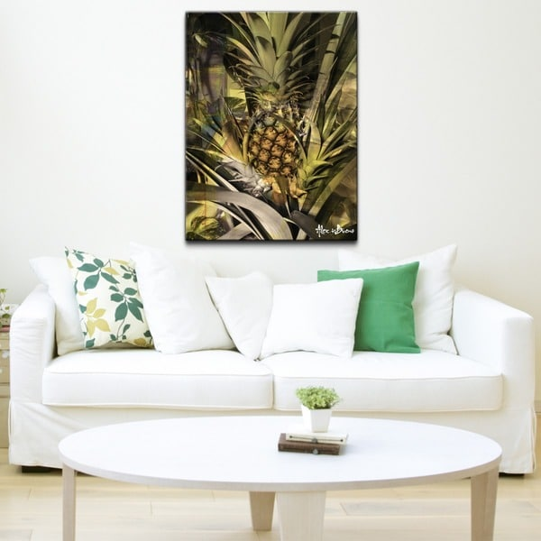 Alexis Bueno 'Pineapple Abstraction' Canvas Wall Art