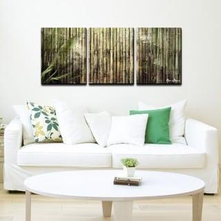 Ready2HangArt 'Bamboo Abstraction' 3-piece Oversized Canvas Wall Art