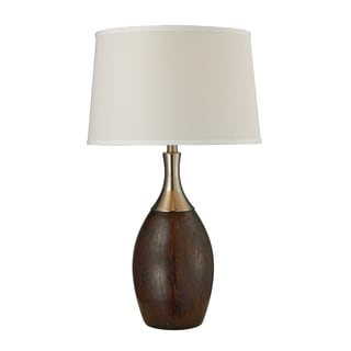 1-Light Mahogany Table Lamp