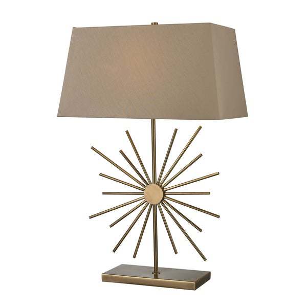 Antique Brass Finish 1-light Table Lamp