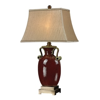 1-light Rosebury Red Ceramic Table Lamp