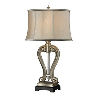 1-light Silver Harp Table Lamp