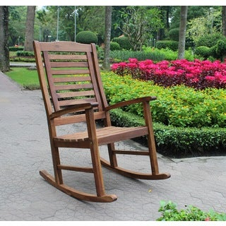 International Caravan Trinidad Acacia Oil Finish Porch Rocker
