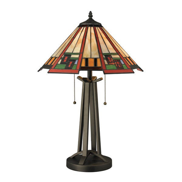 2light tiffany style table lamp this beautiful table lamp features. Black Bedroom Furniture Sets. Home Design Ideas