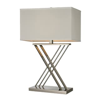 Polished Nickel 1-light X Base Table Lamp