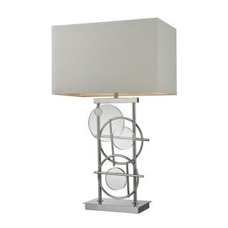 Liberty 1-Light Chrome Crystal Table Lamp