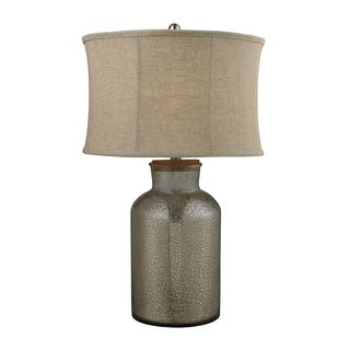 1-Light Aged Wood Table Lamp