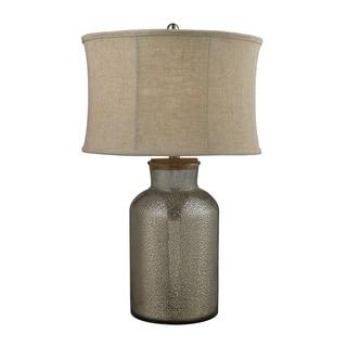1-Light Aged Wood Table Lamp