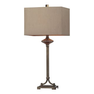 1-Light Antique Gold Metal Table Lamp