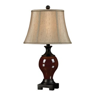 1-light Glazed Ceramic Table Lamp