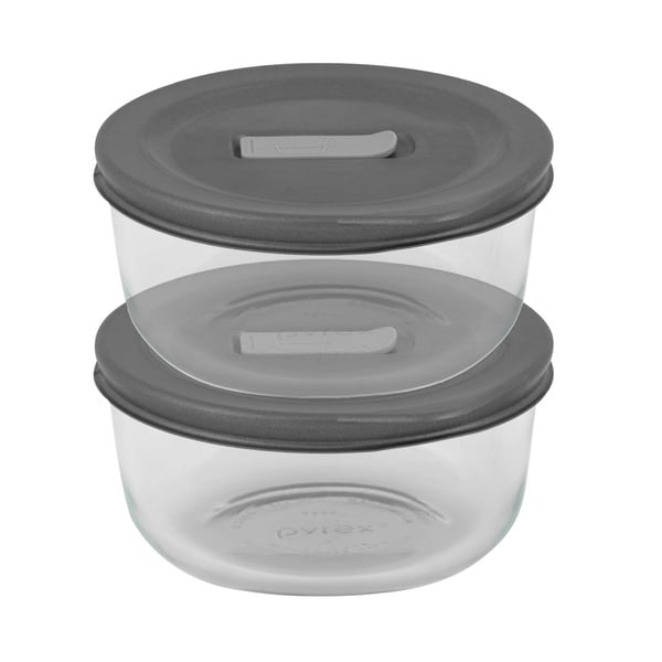 Pyrex No-leak Lids Round Baking Dishes