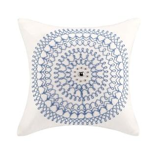 Echo Design Woodblock Paisley Square Pillow