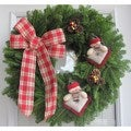 Fresh Maine Balsam Country Snowman Wreath