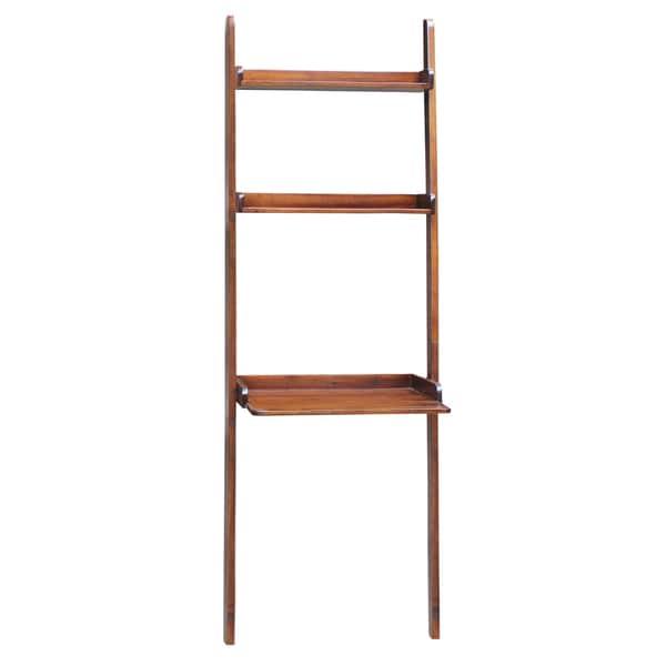 Espresso 2-shelf Lean To Desk Unit