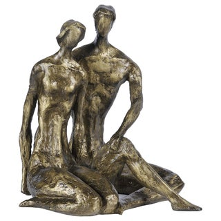 Hand Molded Bronze Long Chats Sculpture