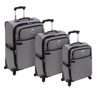 London Fog Abbey Collection 3-piece Fashion Spinner Luggage Set