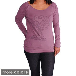 Organic Cotton Women's 'Tree Of Life' Yoga Top (Nepal)