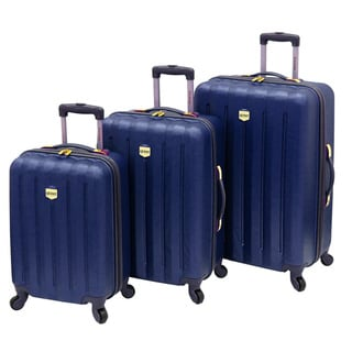 Quest Journey Collection 3-piece Navy Hardside Spinner Luggage Set
