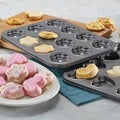 Cake Boss Novelty Nonstick Bakeware 2-piece Heart and Flower Molded Cookie Pan Set
